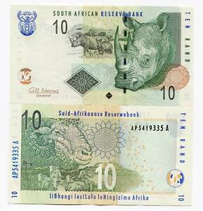 South-Africa-2010-10-Rand-Banknote-R10-Rhino-Gil-Marcus-Governor-Signature-P128