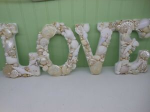 Shell Letters Beach Decor LOVE Letters Sign