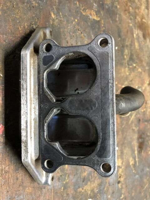 JOHN DEERE X475 kawasaki 22 hp L/C V/TWIN FD671D engine carburetor elbow