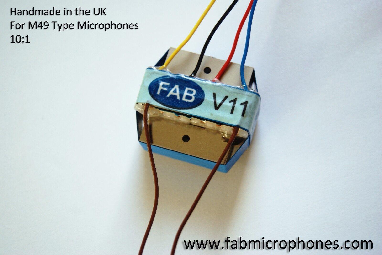 Original FAB V11 - Neumann M49 Microphone Transformer. Classic FAB Sound