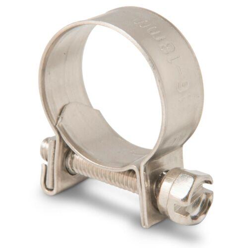 Mini Hose Clamp//Clip Fuel Line Jubilee Mild Stainless Steel Petrol Diesel Pipe
