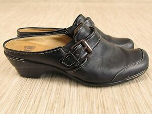 Sofft Women's Black Leather Loafers Size 8 M