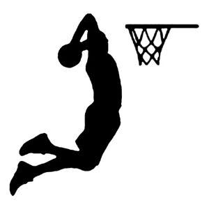 Basketball Player Slam Dunk Wall Decal Sports Sticker Poster Boys