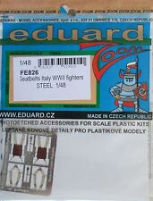 Eduard 1/48 FE826 Colour Steel Etch WW2 Italian Fighter Aircraft Seatbelts