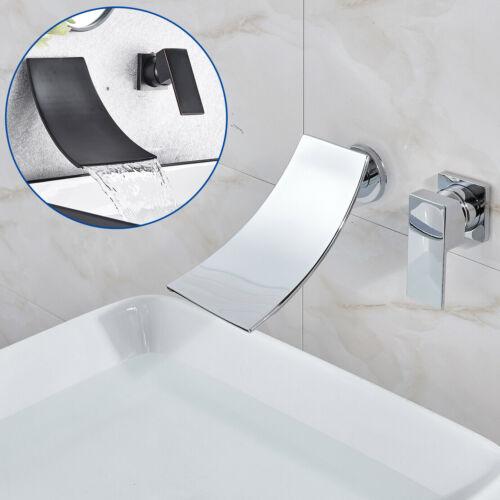 Waschtischarmatur Wasserfall Wandmontage Wasserhahn Unterputz Einzigen Handgriff