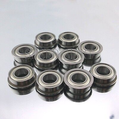 10 x F696zz Mini Metal Double Shielded  Flanged  Ball Bearings (6mm*15mm*5mm)
