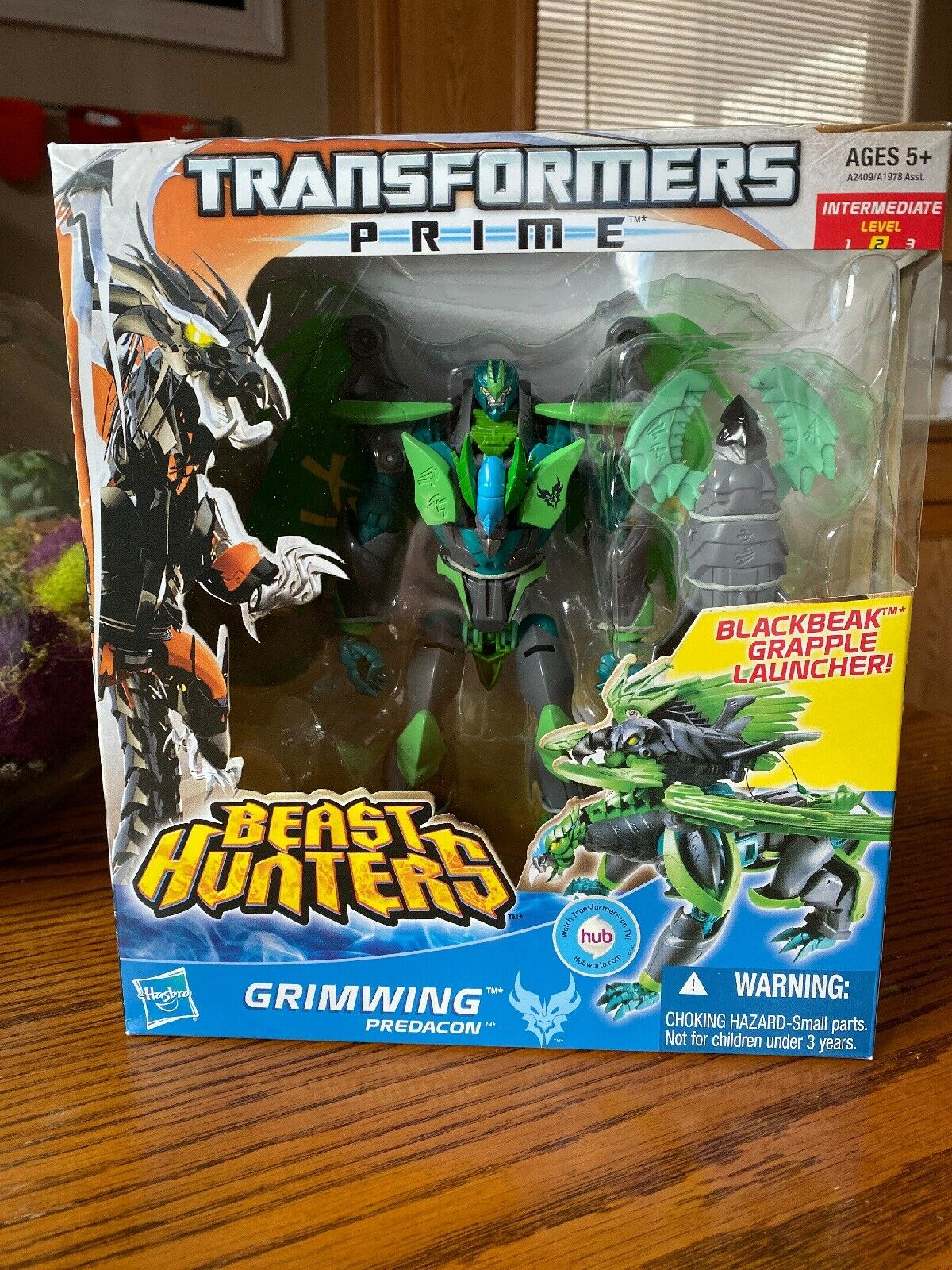 GRIMWING Transformers Prime Beast Hunters Voyager Class Figure #4 Series 2 2013