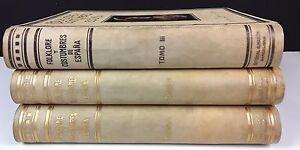FOLKLORE-ET-COSTUMES-DE-L-039-ESPAGNE-3-VOLUMES-EDIT-A-MART-N-1943-1946