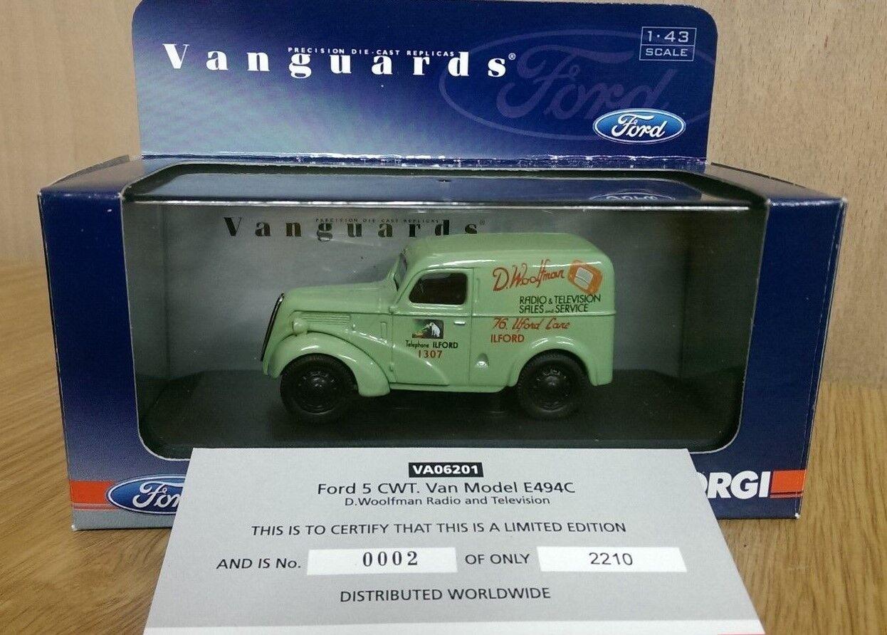 CORGI VA06201 FORD 5cwt Van modèle E494C D WOOLFMAN Radio & TV Ltd Ed 002 de 2210