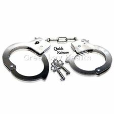 Steel Metal Handcuffs w/ Keys Restraints Wrist Cuffs (not for professional use)