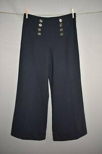 NEW-YORK-amp-COMPANY-NEW-47-Navy-Cuffed-Wide-Leg-Pant-Size-14