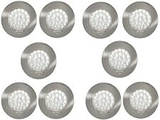 10 x 12V RECESSED SPOT LIGHTS DOWNLIGHTS CARAVAN MOTORHOME BOAT COOL WHITE LED'S