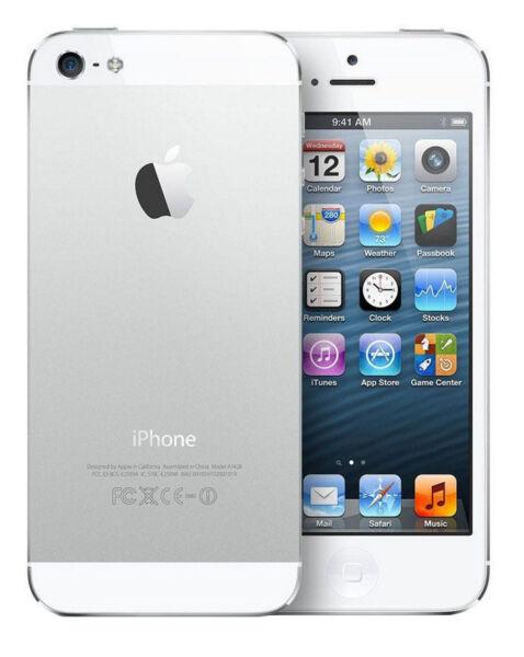 100% QualitäT Apple Iphone 5 - 16gb - White & Silver (unlocked) A1429 (gsm) Günstig Kaufen |