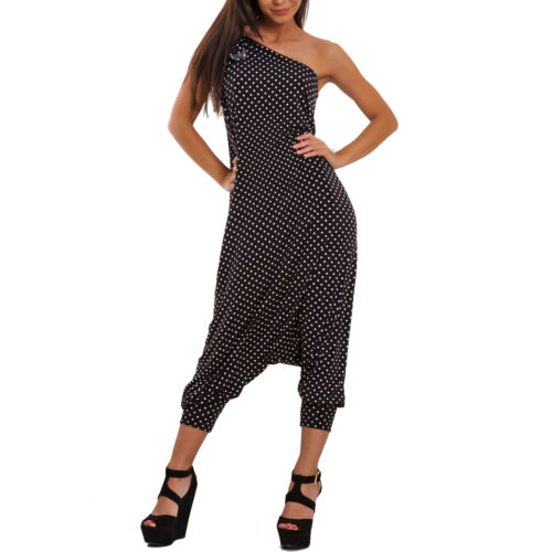 Overall donna harem turca pantaloni tutina tuta monospalla fiocco nuovo FI-2610