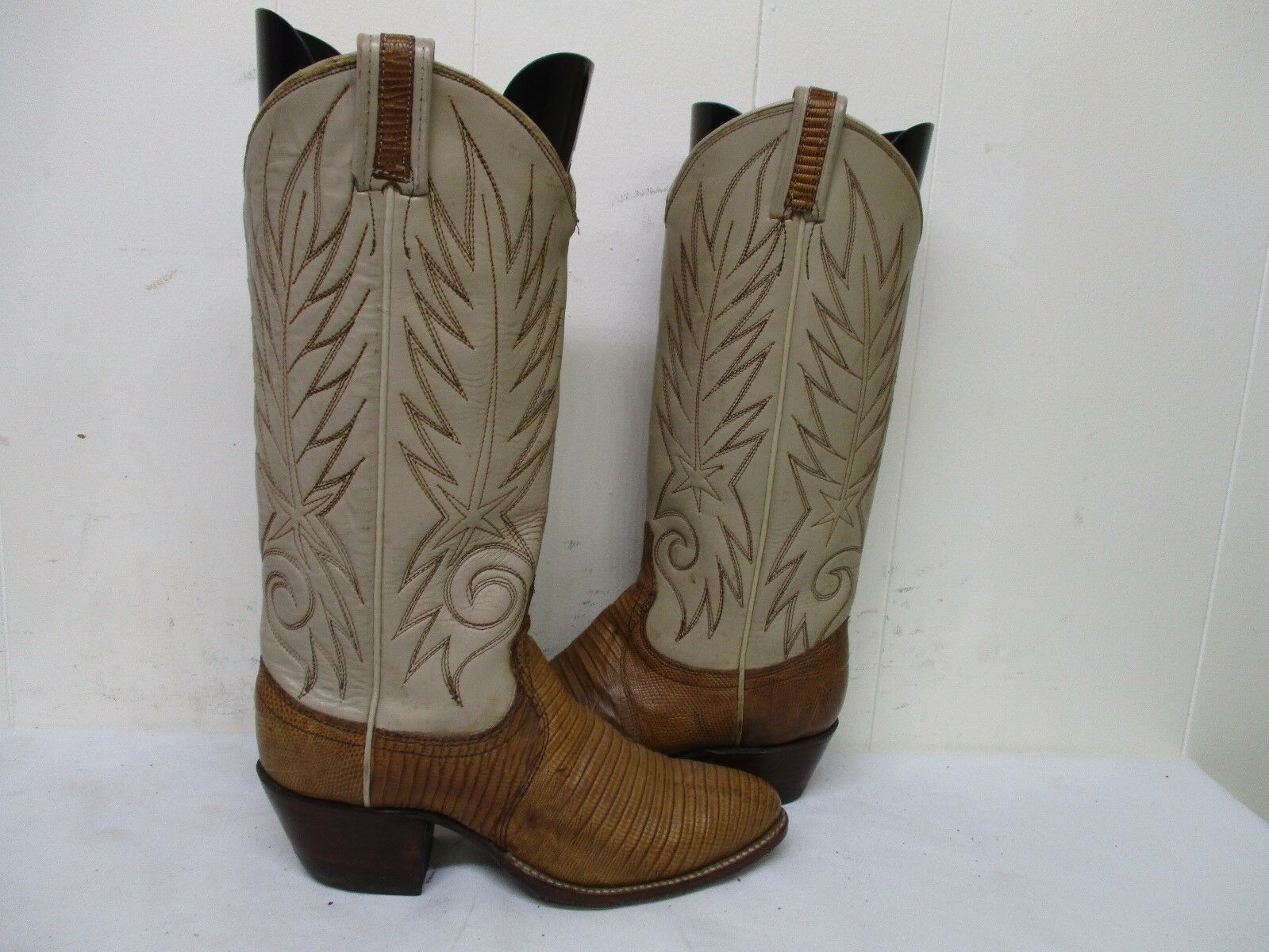 Dan Post Brown Lizard Skin Leather Cowboy Boots Womens Size 5.5 A Style 4248