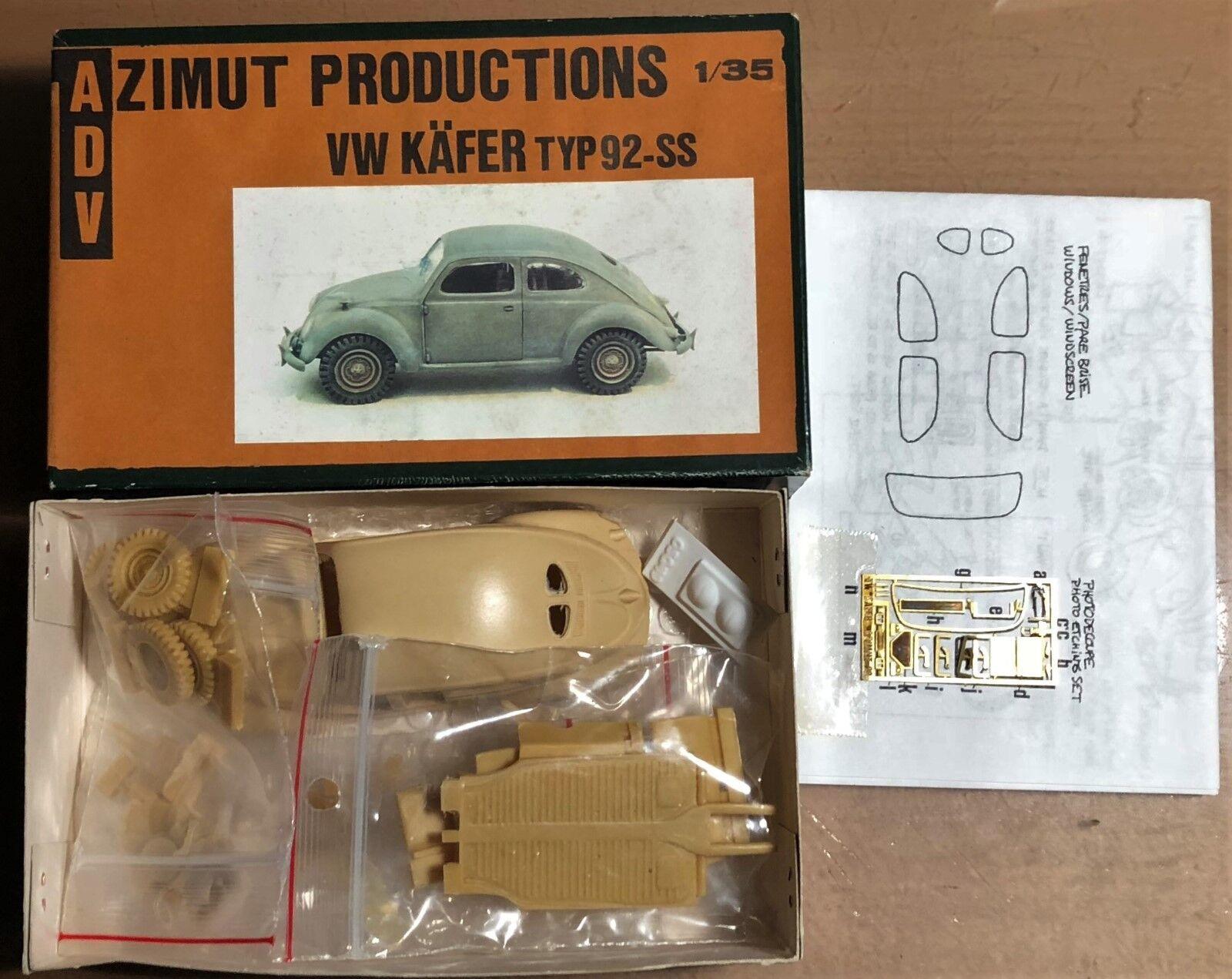 ADV AZIMUT PRODUCTION - VW KAFER RESIN TYP92-SS - 1 35 RESIN KAFER KIT 96059e