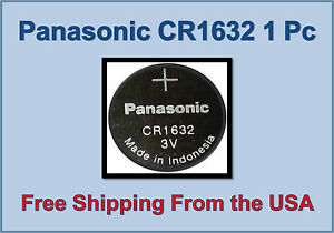 Panasonic 1632 3v 3 Volt Lithium Battery Cr1632 Coin Size