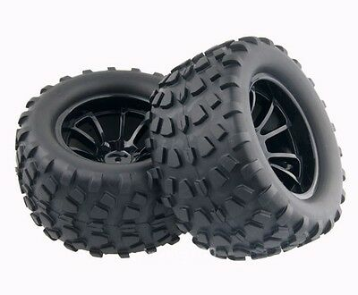 RC 1:10 Monster Bigfoot Truck Rubber Sponge Tires Tyre Wheel Rim For HSP 88040