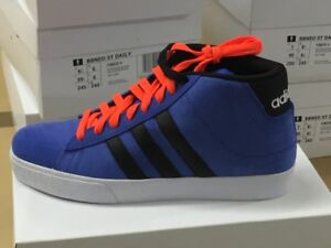 ADIDAS-Bbneo-Daily-Bleu-Cuir-Sauvage-Baskets-pour-homme-chaussures-bottes-f38535