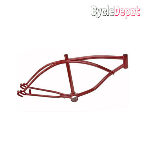 "NEW RED 20/"" Lowrider Frame Metallic//Red Beach Cruiser Chopper FRAME ONLY"