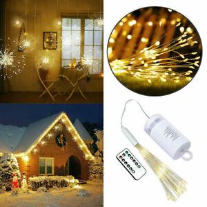 120LED-Feuerwerk-Lichterkette-Weihnachten-Wasserdicht-Beleuchtung-Aussen-Warmweiss