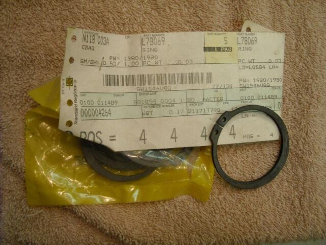 E 485E G 310G NOS John Deere L78069 lock ring for 710J D 660D 300D K