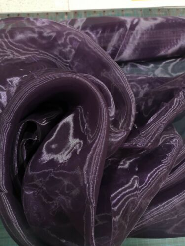 Purple sheer organza fabric 140cm wide sold by the metre