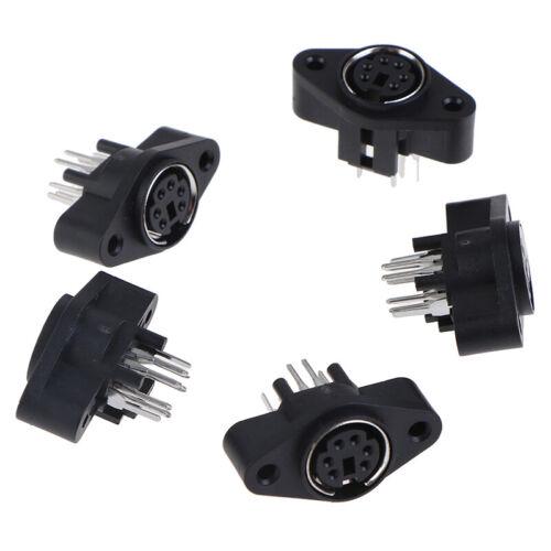 5PCS MDC//S Terminal Socket DIN Jack Connector  Mini PS2 6Pin 6P Socket b$