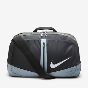 Nike Run Duffel Bag One Size Black Gray Gym Outdoors Men Women ... 736a9e88c9a52