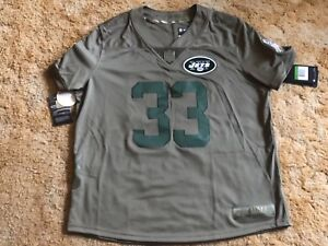 Top NY Jets Jamal Adams Womens Salute to Service Jersey Green NFL XL NWT  for sale