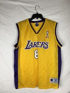Details about Kobe Bryant Lakers Jersey 8 Champion Size Medium Vintage Black Mamba