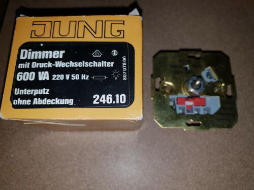 Jung 246.10 dimmer con stampa-Interruttore di cambio 600 va watt lampade a muro