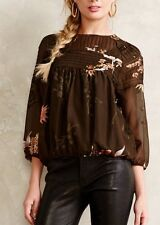"""""""Windswept Velvet Burnout Peasant Top"""" by One Fine Day--L"""