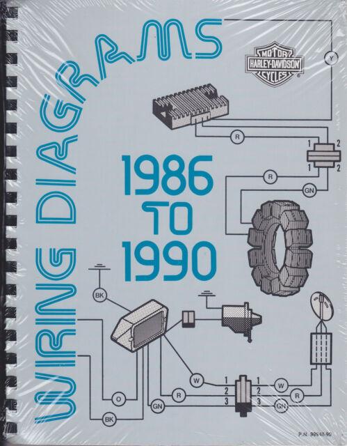1986-1990 Harley ALL MODELS Electrical Wiring Diagrams ...