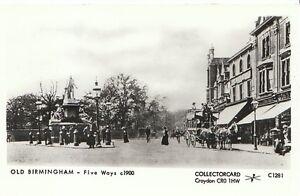 Warwickshire-Postcard-Old-Birmingham-Five-Ways-c1900-2280