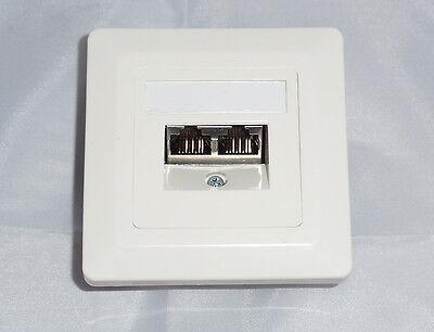 1 Stück Anschlußdose Cat.6 Class E 2xRJ45 UP Datendose Netzwerkdose RAL9010