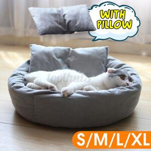 L-XL-Dog-Cat-Round-Sleeping-Plush-Pet-Bed-Kennel-Comfortable-Sleeping