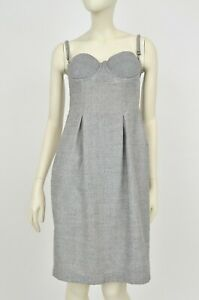 la perla grey dress corset wool blend size 10 it42  ebay