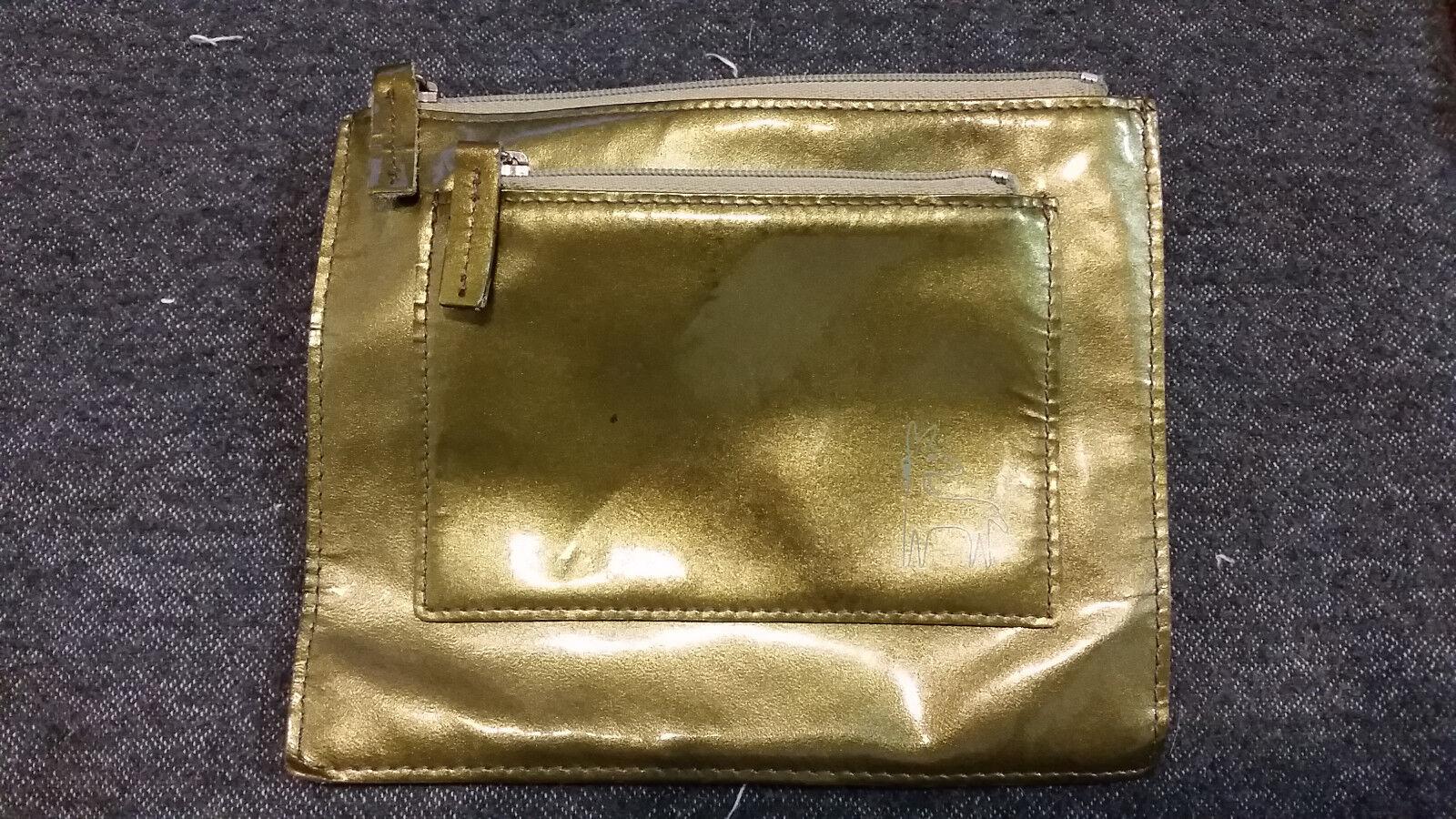 Highway brand wallet - shiny green vinyl with zipper pulls