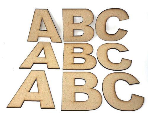 """Caractères /""""Arial/"""" en bois lettres non autostable MDF CRAFT Lettres//Chiffres Formes"""