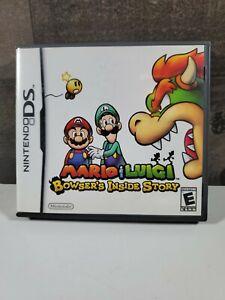 COMPLETE-DS-Mario-amp-Luigi-Bowser-039-s-Inside-Story-Case-Manual-amp-Original-Game