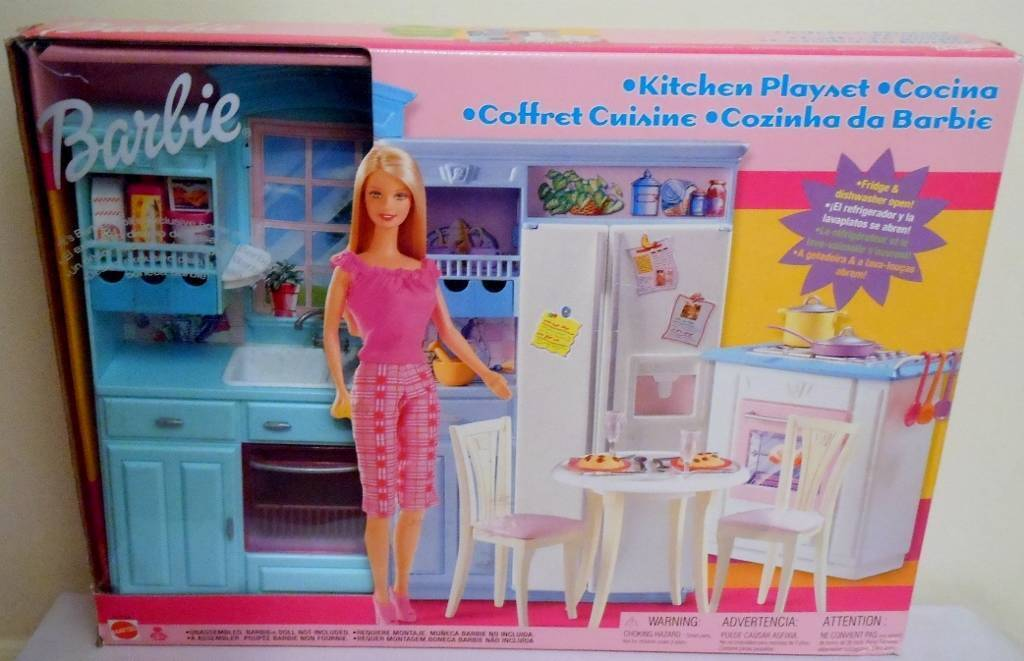 12  Muñeca Barbie Cocina Conjunto de Juego no   Nuevo en Caja  nunca quitado de la Caja   Raro
