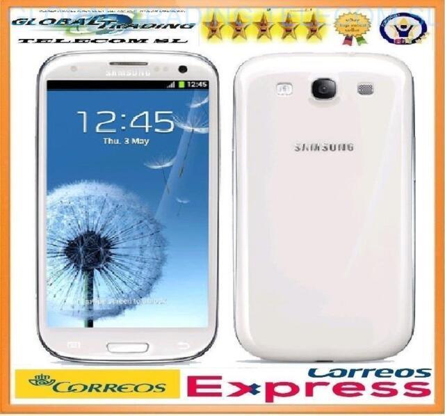 SAMSUNG GALAXY S3 i9300 BLANCO LIBRE SMARTPHONE 16GB TELEFONO MOVIL MARBLE WHITE
