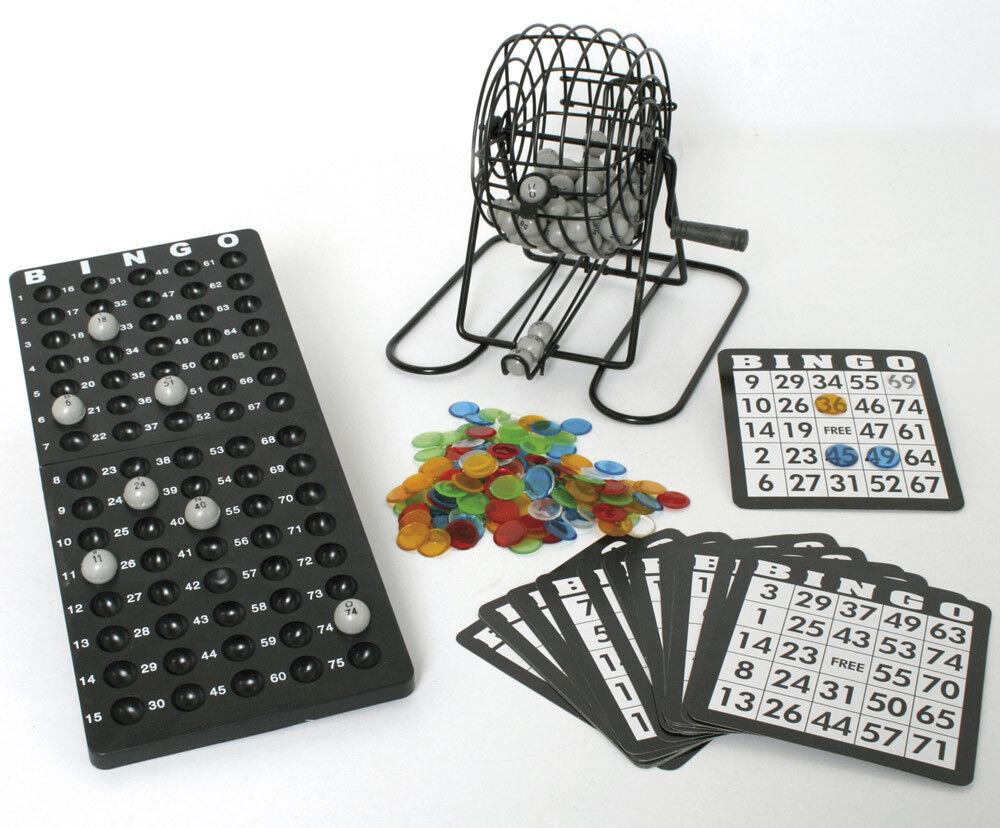 BINGO-SPIEL Bingospiel Bingotrommel mit Zubehör 25 25 25 aus 75 Glücksspiel Lotto NEU 51c2b0