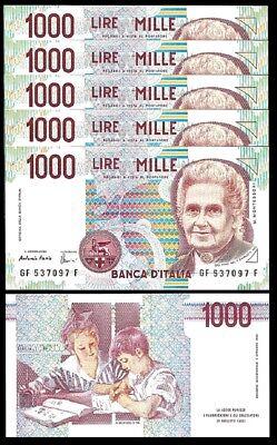 SIGN Fazio ITALY ITALIA 1000 LIRE 1990 UNC P-114c Amici