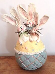 Honey and Me, Easter Egg with Bunnies, Candy Dish/Bowl #S11410