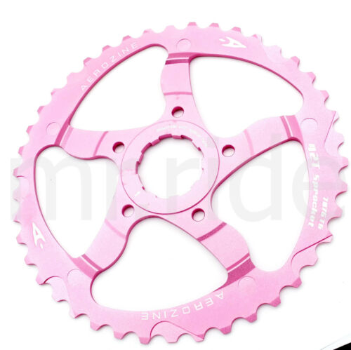 Aerozine CNC 42T Sprocket Cassettes +16T fit Shimano SRAM 10 speed Pink
