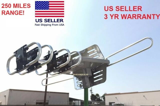 US HDTV 1080p Outdoor Amplified Digital Antenna UHF VHF FM Long Range  TV 15dB s