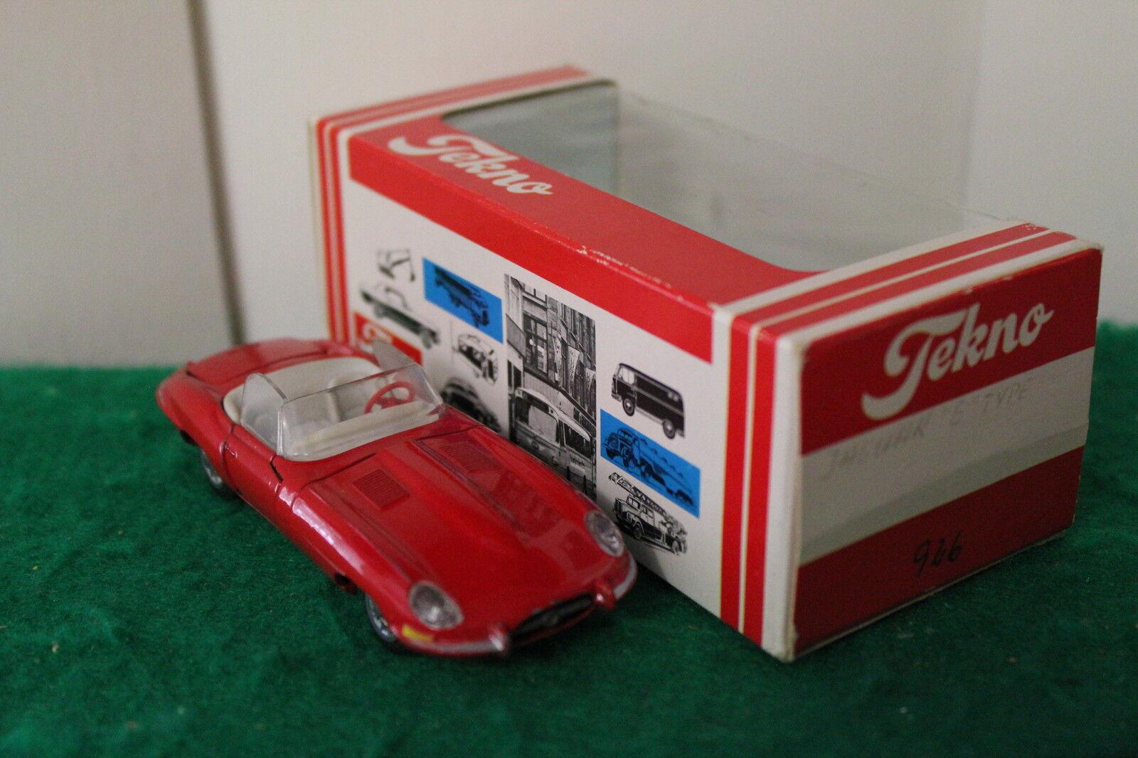 Tekno Tekno Tekno No  926  Jaguar E Type Roadster  - Red (Made in Denmark) 93c235