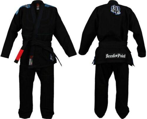New Brazilian Jiu Jitsu Gi Mens Break Point Flash BJJ Gi A3- Black Kimono
